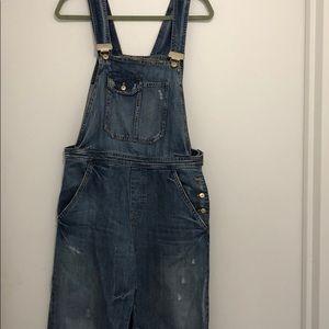 Zara size medium denim overalls